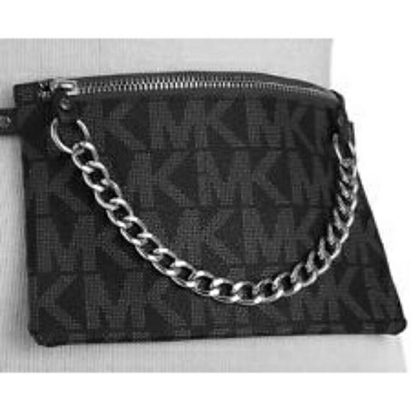 7ed801596fcc Michael Kors Pull Chain Belt Bag MK belt bag is a premium option for going  hands-free and looking fab at the same time. Belt has a 3- button snap  closure.