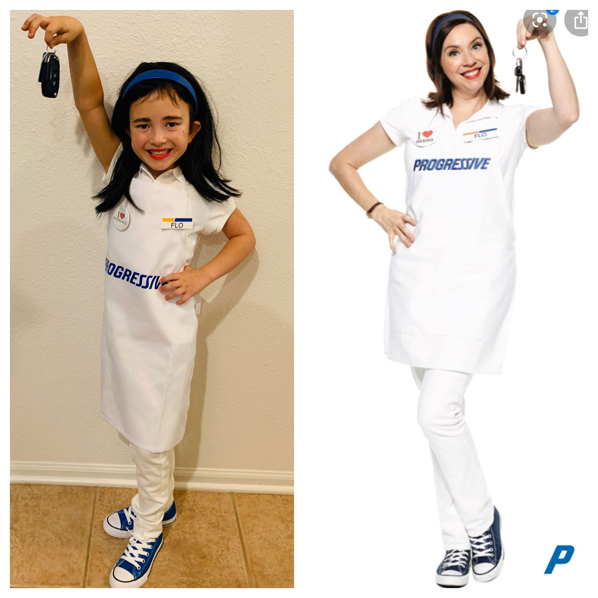 Flo progressive insurance Halloween costume kids