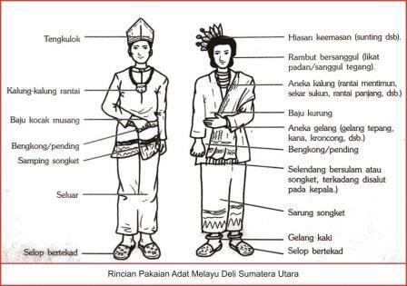 Rincian Pakaian Adat Melayu Deli Sumatera Utara Pakaian Adat