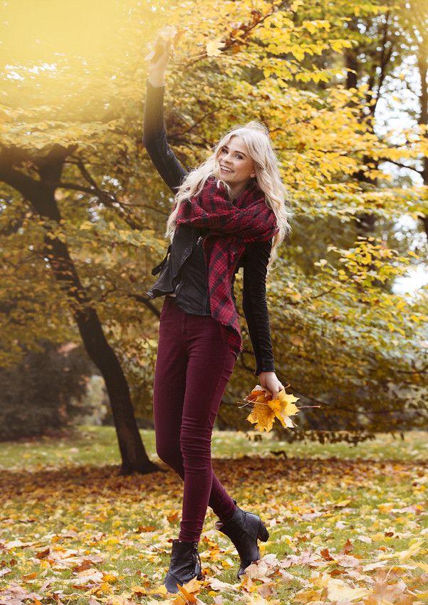 IdeeInspiration fr das Portrait einer Frau im Herbst