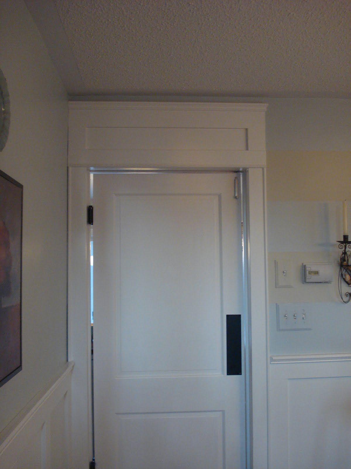 Faux Transom Above Door Above Door Decor Wooden Doors Living Room Door