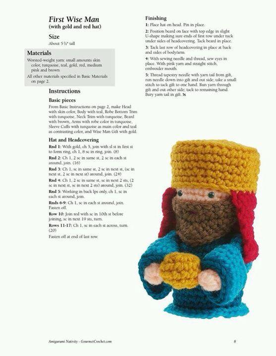 Rey uno | Crochet | Pinterest | Nacimiento, Navidad y Pesebre