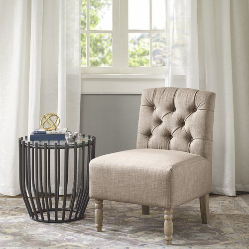 Found It At Wayfair Roland Tufted Slipper Chair Armless Accent
