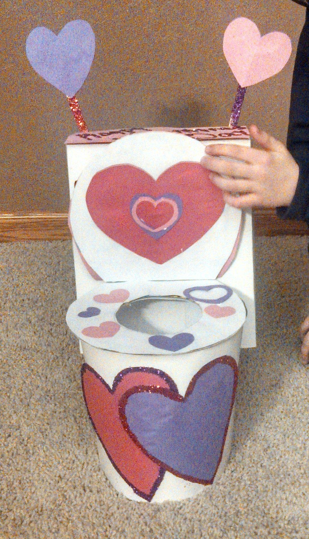 Toilet Valentine Box! :)