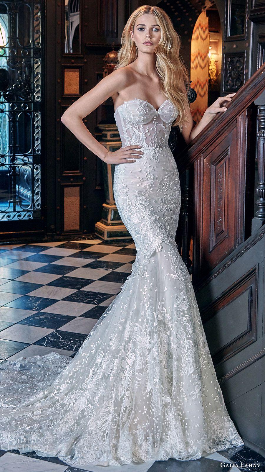 galia lahav bridal spring 2017 strapless sweetheart mermaid fit ...