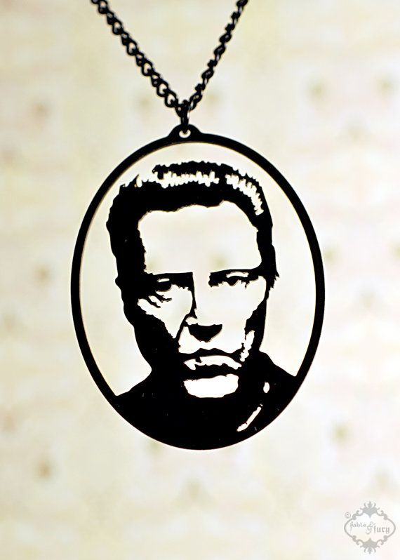 Christopher Walken tribute silhouette necklace door FableAndFury, $32.00