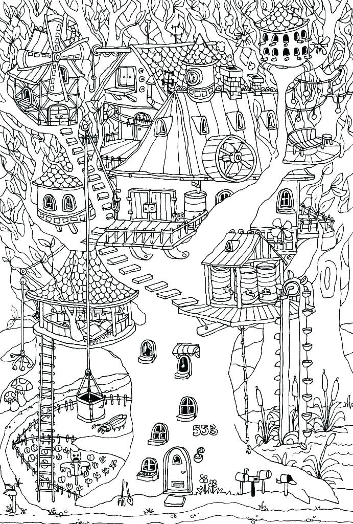 free magic treehouse coloring pages - photo#22