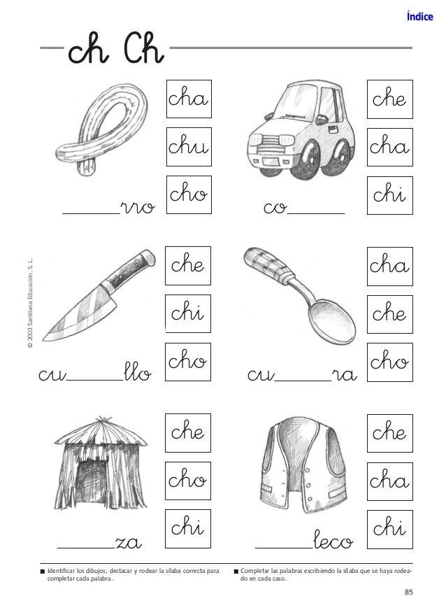 Resultado De Imagen Para Letra Ch Para Colorear Lectoescritura Libros De Lectoescritura Silabas