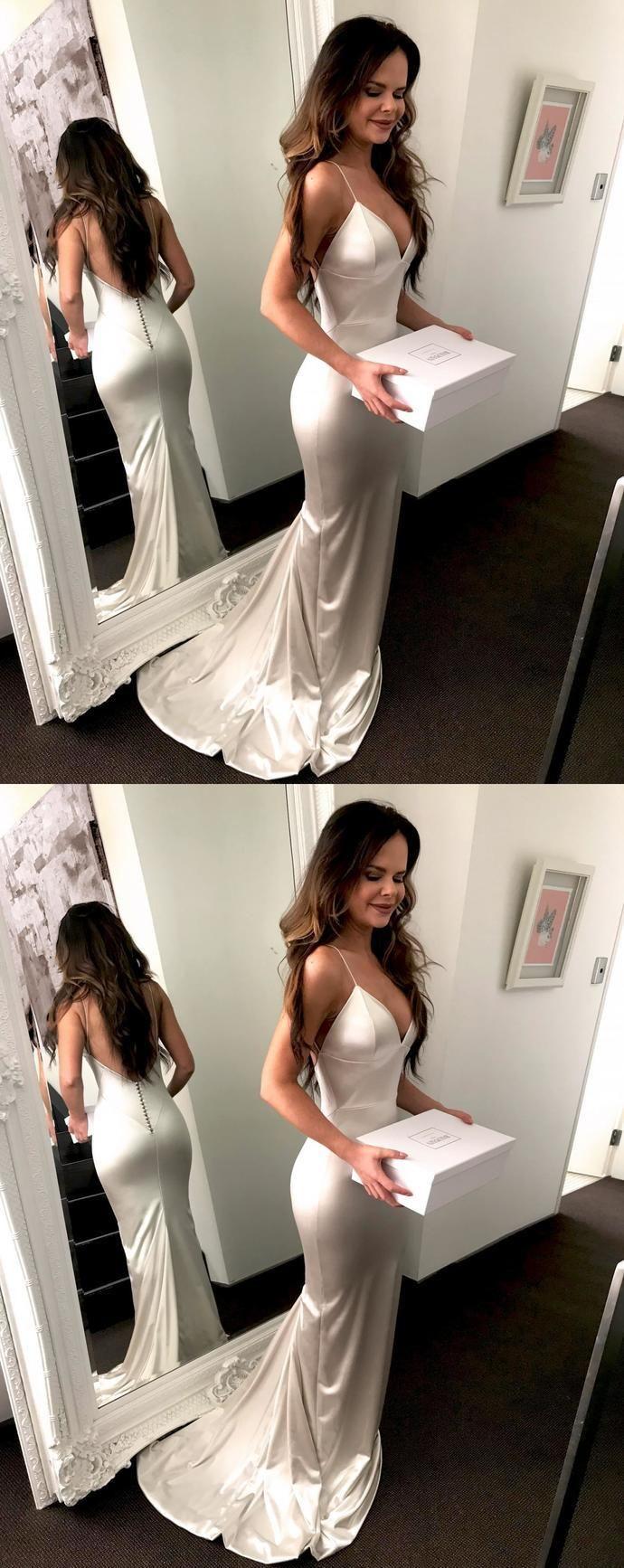 Mermaid Prom Dress Evening Dress Straps Prom Dresses Back Open Back Formal Dress Evening Gown Prom Dress