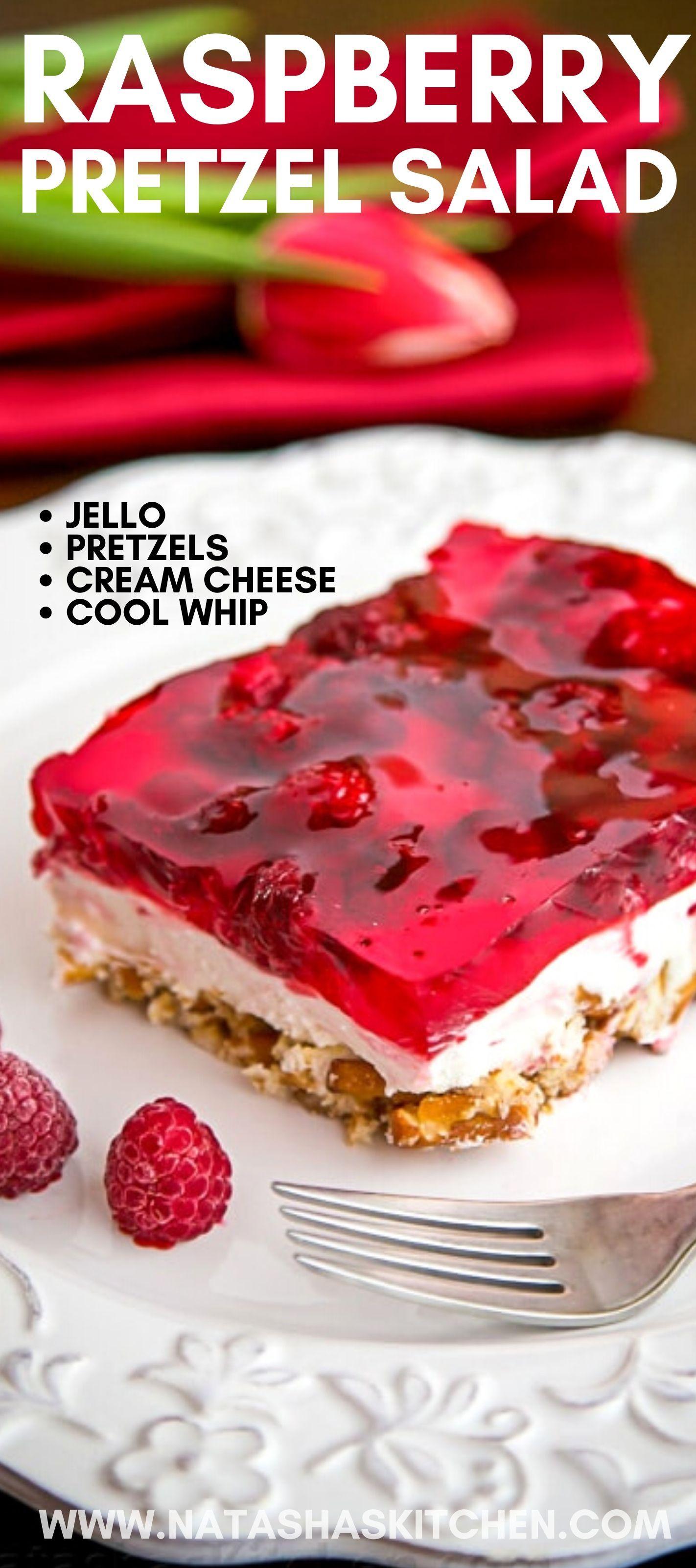 Raspberry Pretzel Jello Recipe A Fantastic Holiday Dessert Thanksgiving And Christmas Are The Most Popu Recetas De Gelatina Postres Navidenos Comida Postres