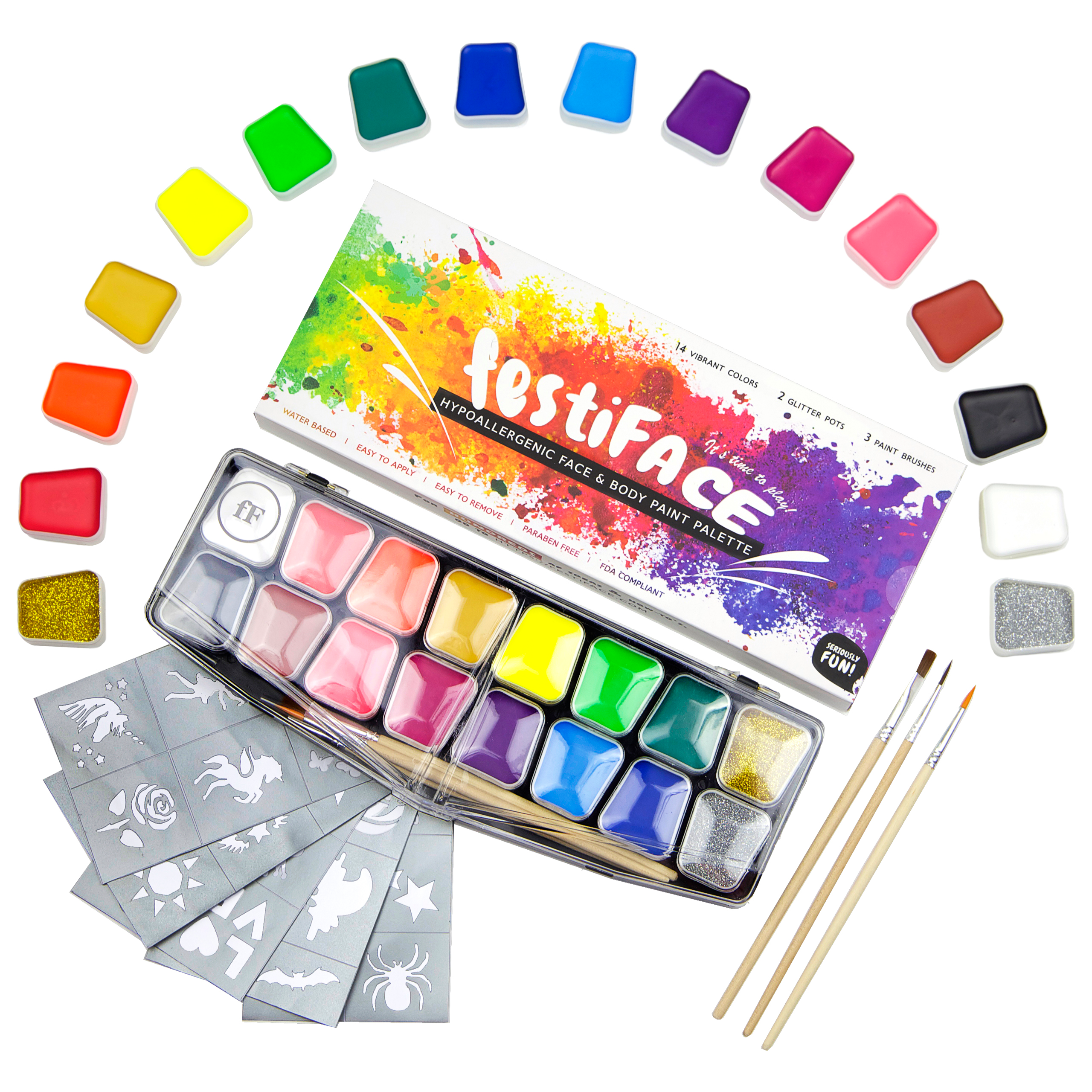 KIDS NON TOXIC WATERCOLOUR PALETTE Art Craft Childrens Painting Set Paint Palete