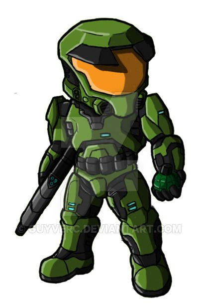 master chief chibi halo just wake me when you need me
