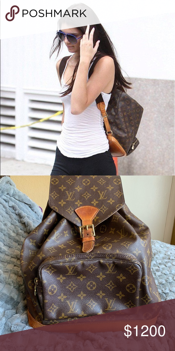 c48aec754b80 Montsouris Louis Vuitton GM backpack Authentic Louis Vuitton backpack ☑ ️Poshmark will authenticate before sending to