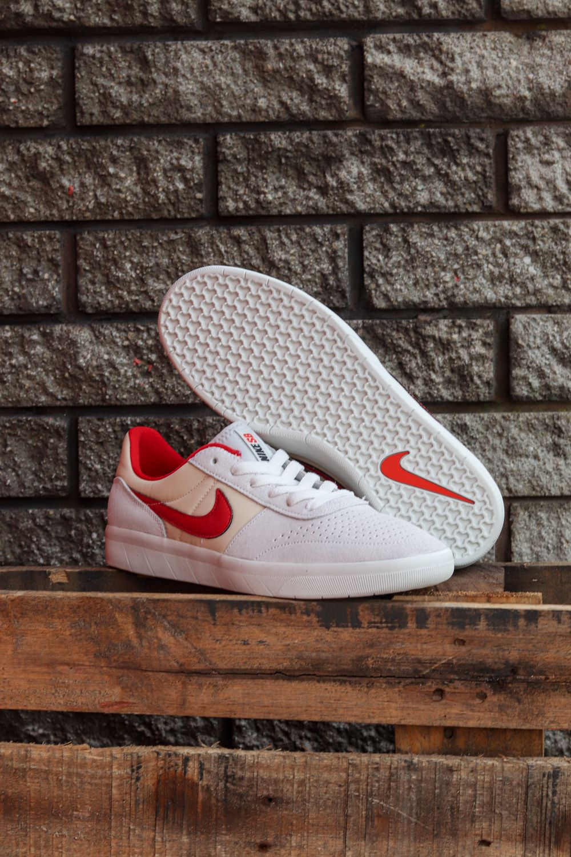 Nike Sb Team Classic Skate Shoes Photon Dust University Red Light Cream In 2020 Nike Sb Skate Shoes Skate Wear