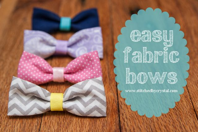 25 More Scrap Fabric Projects #fabricbowtutorial