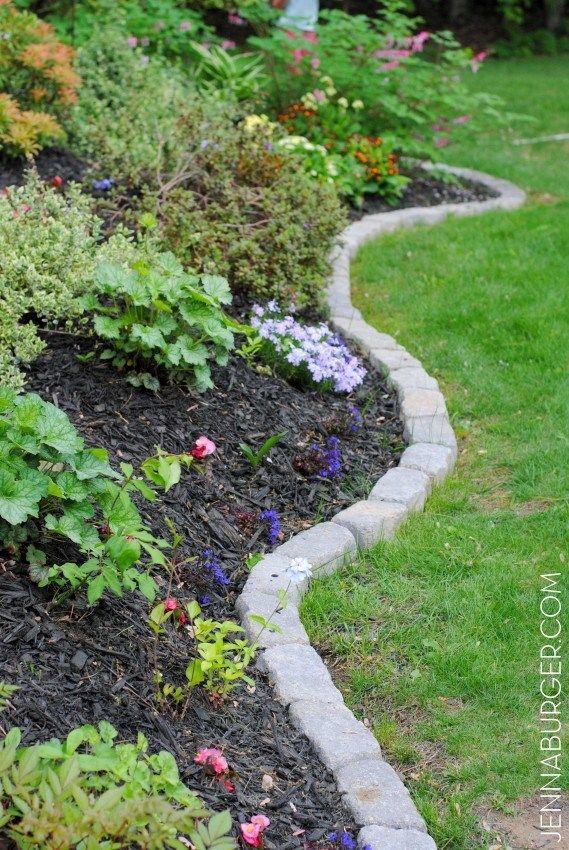30 Diy Garden Bed Edging Ideas With Images Rock Garden