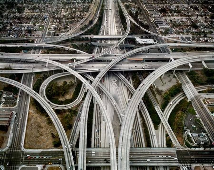 The High Five Interchange, Dallas, Texas | Photographers gallery, London  art, Aerial