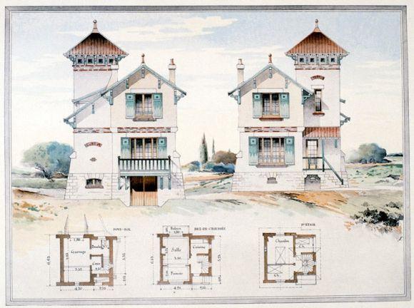 Modeste maison de campagne à Villennes, l\u0027Habitation pratique, 1906