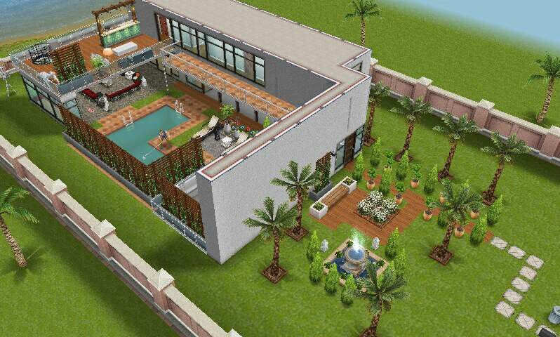 modern house  #sims freeplay