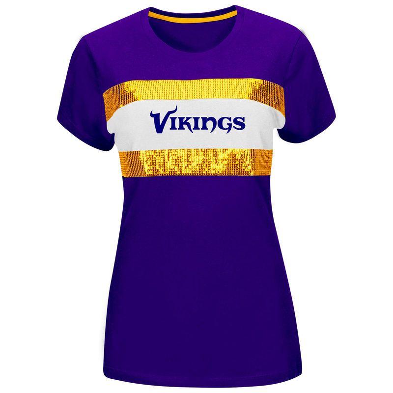 Minnesota Vikings Majestic Women s Touchdown Queen T-Shirt – Purple ... 30f98167d