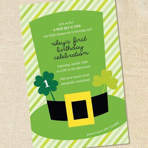 Sweet Wishes St Patricks Day Irish Birthday Party Invitations – St Patricks Day Party Invitations