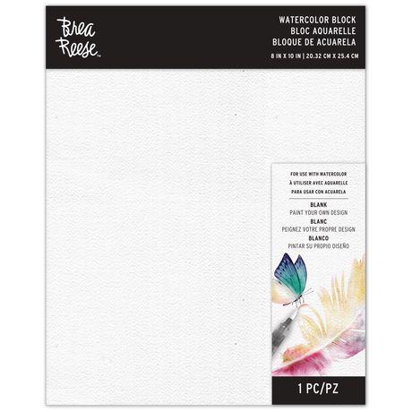 Momenta Inc Brea Reese Watercolor Block 8x10 Blank Drawing