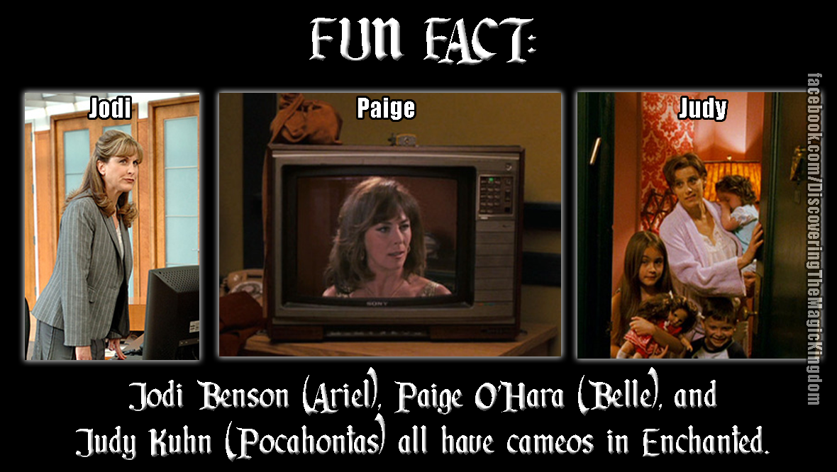 FUN FACT: Enchanted: Jodi Benson (voice of Ariel), Paige O ...