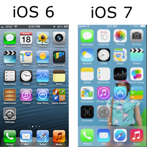 iOS 6 vs iOS 7 Pictorial Comparison! iOS iOS6 iOS7