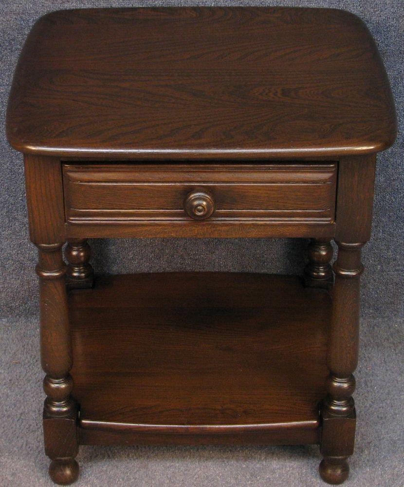 Ercol elm old colonial 792 occasional side lamp table ercol elm old colonial 792 occasional side lamp table traditional finish ercol oldcolonial aloadofball Image collections