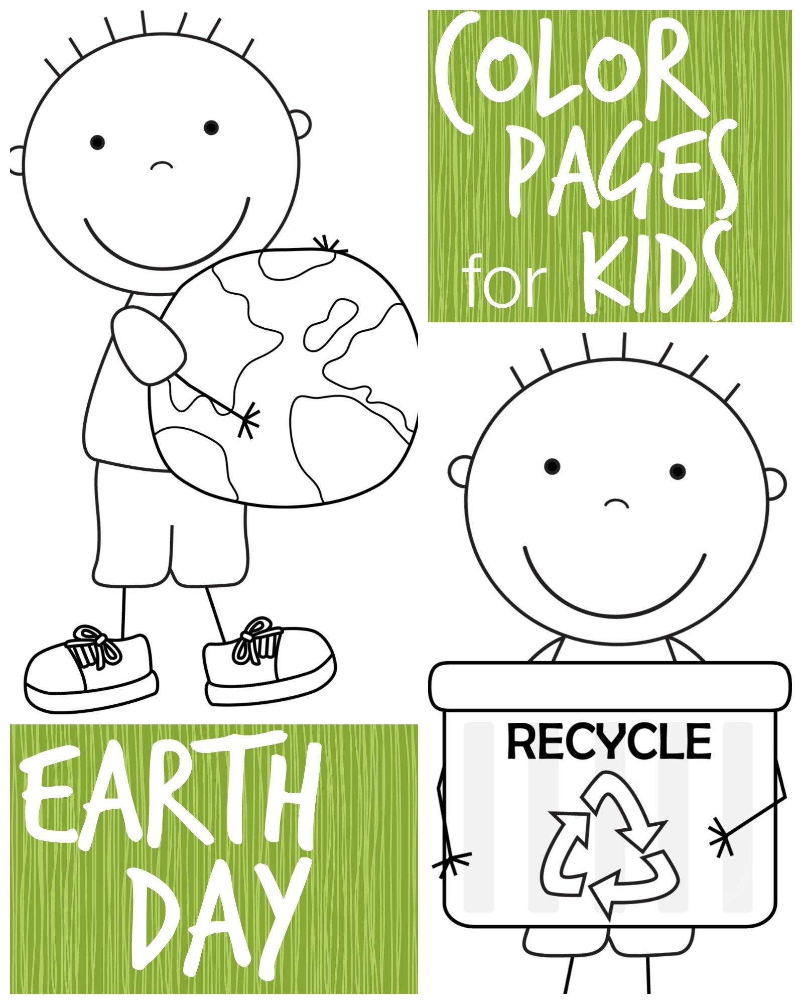 Kid Color Pages: Earth Day for Boys | Colegio | Pinterest