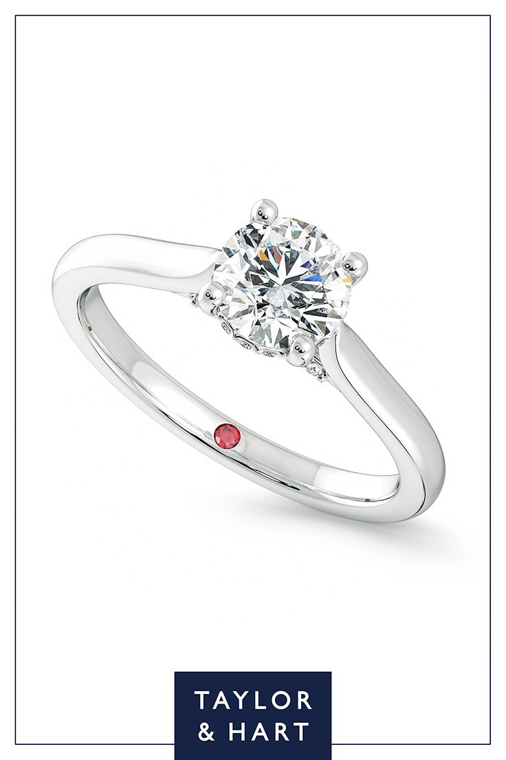 Take inspiration from our beautifully classic diamond solitaire engagement ring.The Bliss combines a round diamond centre with a four claw setting set in 18ct white gold. Let's create something magical together! #engagement #engagementring #solitaire #diamond #whitegold