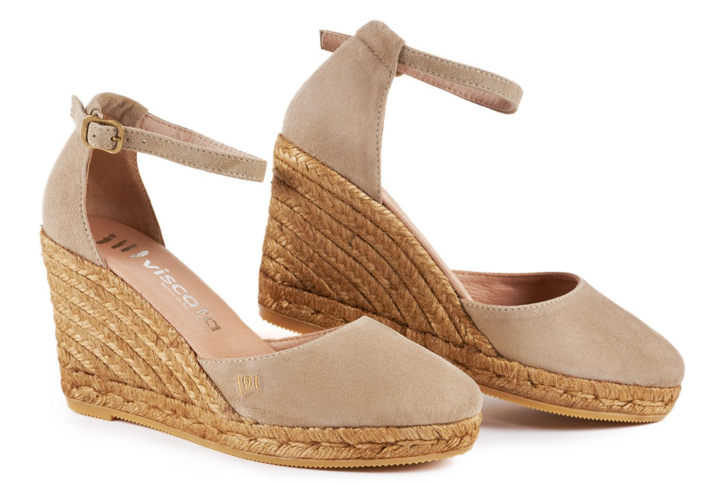 662a81a3955 Palamos Suede Wedges - Nude | Shoessss | Espadrilles, Soft suede ...