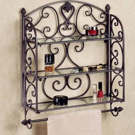 Grace Your Bathroom With The Traditional Styling Of Aldabella Tuscan Slate Wall Shelf Towel Bar Handcrafted Wrought Iron Accent Not Only Helps