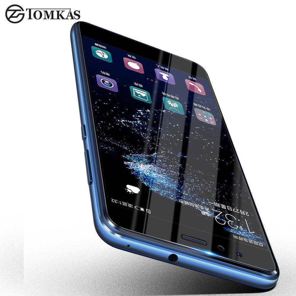Tomkas Huawei P10 Lite Tempered Glass Screen Protector Huawei P10lite Ultra Thin Full Cover Tempered Glass Screen Protector Glass Screen Protector Glass Screen