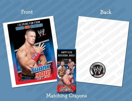 John Cena WWE Personalized Coloring Book/Crayon Favor Set | PartiesRPersonal - Children's on ArtFire