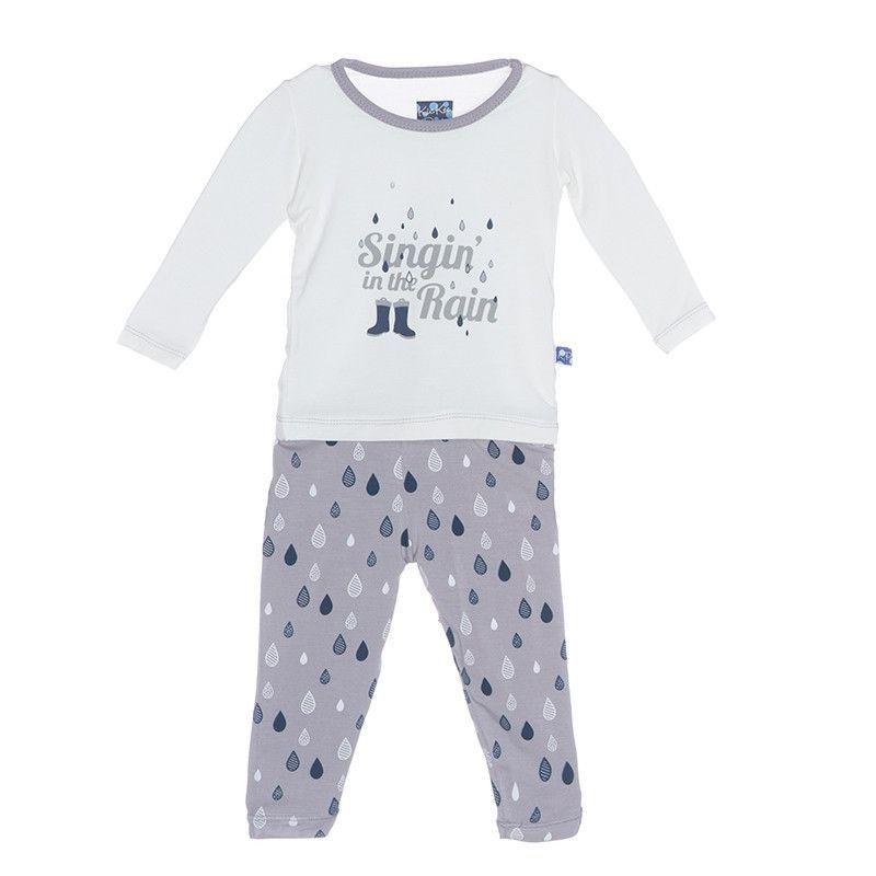 8ddc914ca Kickee Pants Rain Drops Pajama Set
