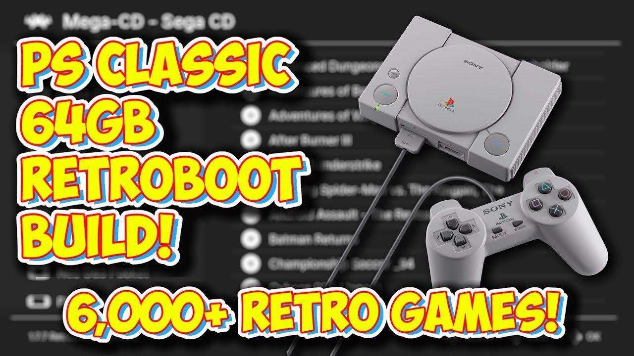 PlayStation Classic NEW RetroBoot 64GB Build Overview! 6,500+ Retro