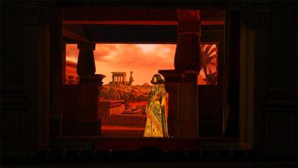 Multum in Parvo Papiertheater Mering: Giuseppe Verdi 'Aida', erster Akt, erstes Tableau.