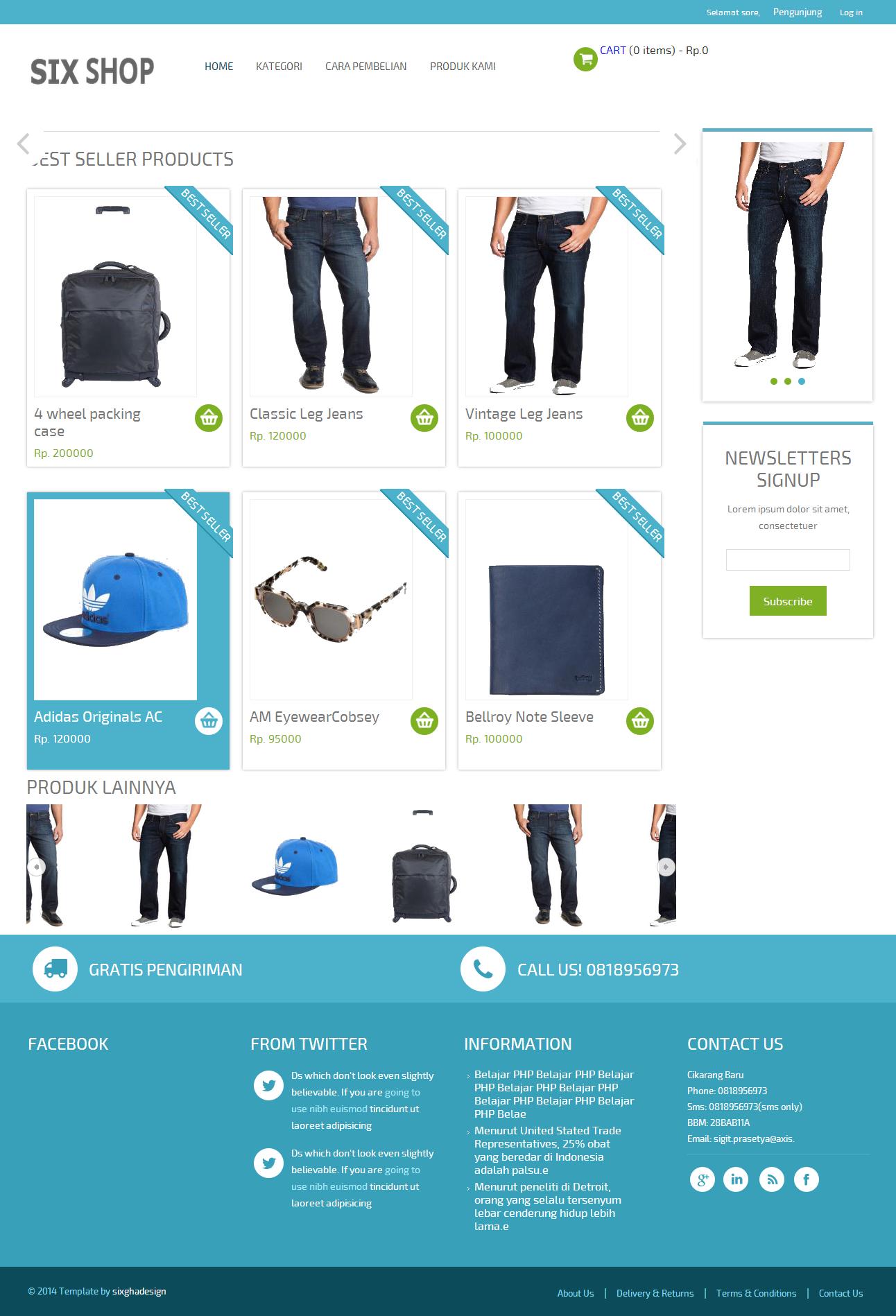 hanya dengan 500 rb saja anda sudah bisa mendapatkan toko online