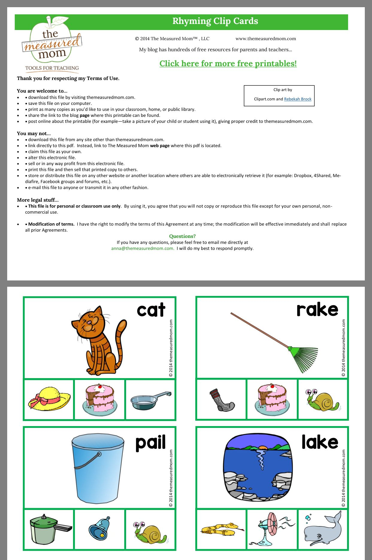 Pin By Emerald Voyles On Rhyming Activities