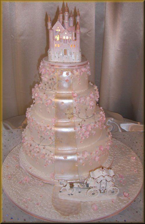 Gateau Mariage Chateau Rose Elizabeth S Princess Birthday