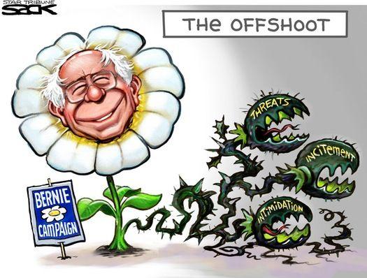 Sack Cartoon Bernie Sanders Supporters Editorial Cartoon Cartoon Political Cartoons