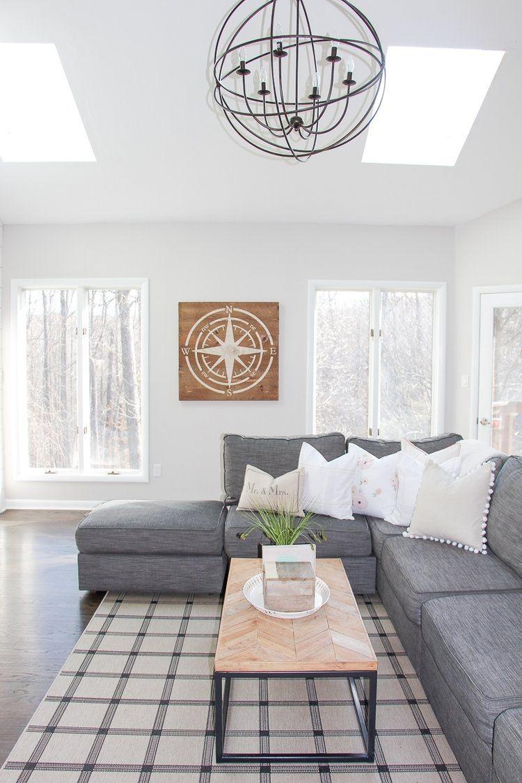 Modern Farmhouse Living Room Renovation | Fixer upper living room ...