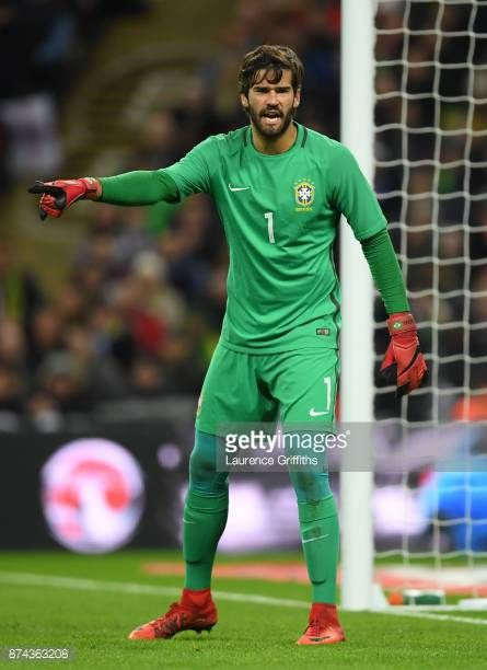 Alisson Of Brazil Looks On During The International Friendly Match Between England And Brazil At Wembley Stadium On November 14 201 Goalkeeper Football Wembley