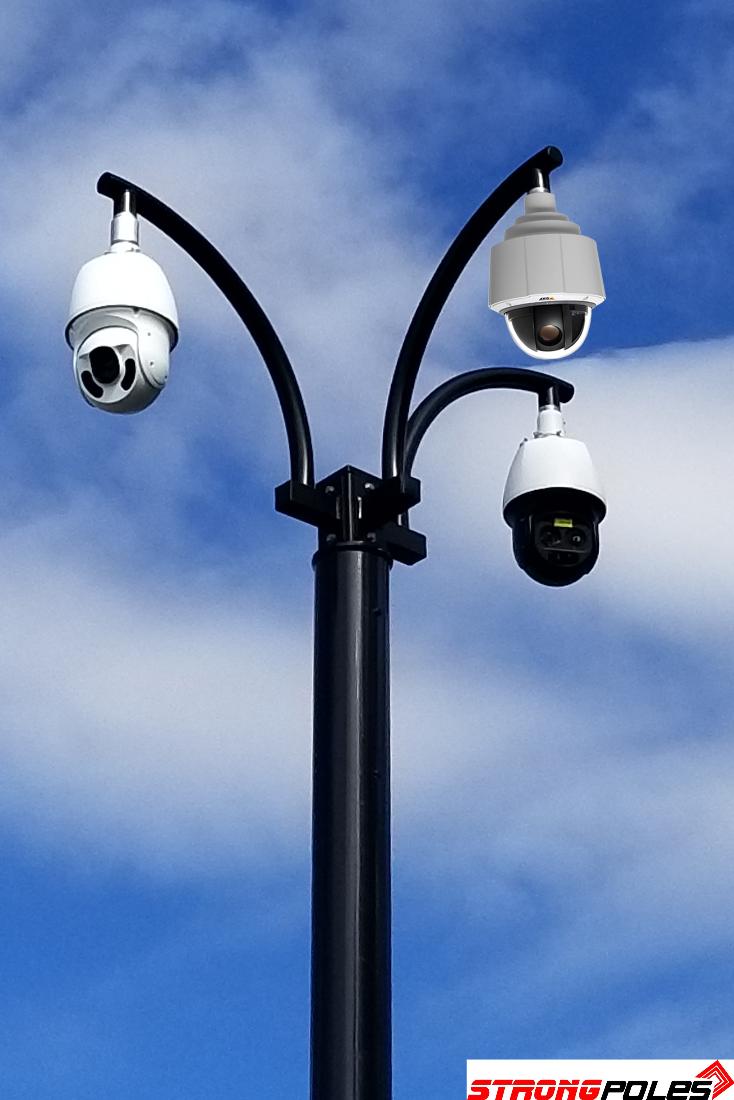 Strong Poles Platforms Accessories Pole Security Camera Platform