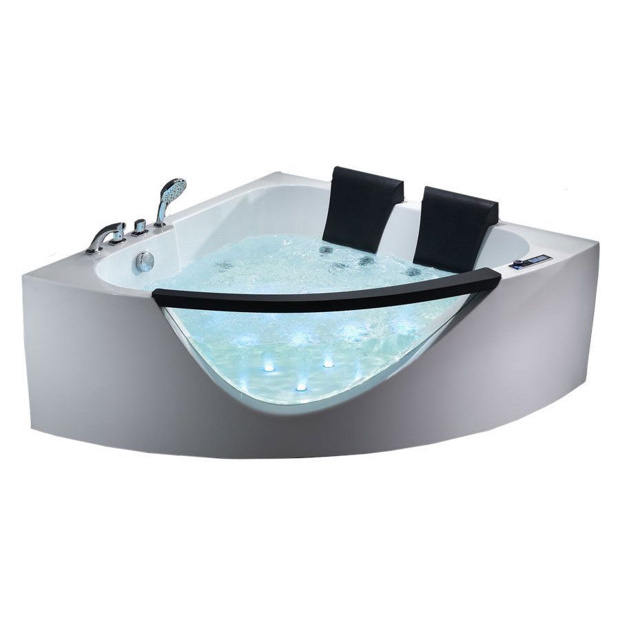 EAGO AM199HO 5-foot Double Seat Corner Whirlpool Bath Tub with ...