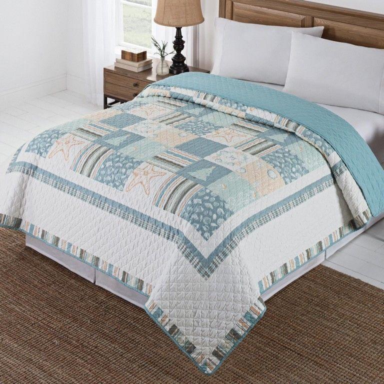 Queen Full Quilt Comforter Coastal Christmas Nautical ...
