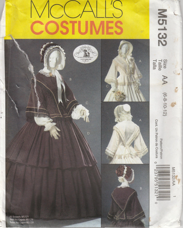 Civil War Ball Pattern Top And Skirt Reenactment Misses