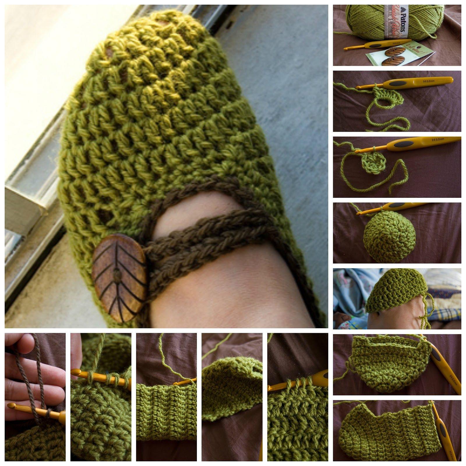 Fantástico Zapatilla Patrones De Crochet Libre Modelo - Manta de ...