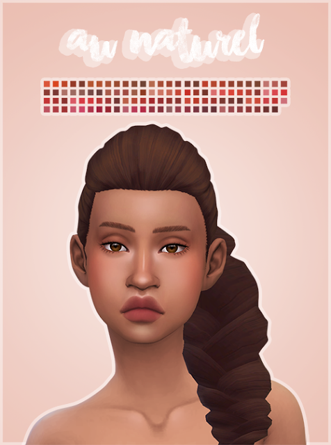 My Sims 4 Blog Au Naturel Lipstick by ChiefWhiskers The